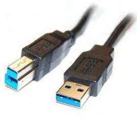 CNS Network USB 3.0 A - USB 3.0 B prepojovací kábel M/M 1,8m prémiový