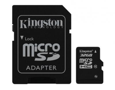 KINGSTON 32GB microSDHC class10 s adaptérom