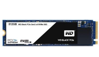 Western Digital SSD M.2 512GB Black series 2280 PCIe Gen3 x4 NVMe