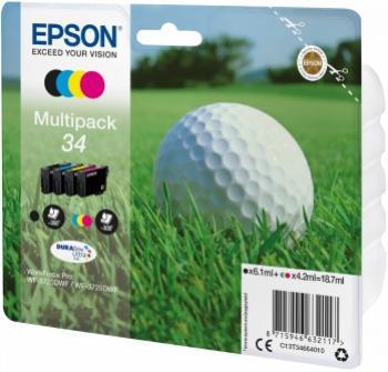 EPSON 34L multibalenie 4 farby 4 x 18,7ml