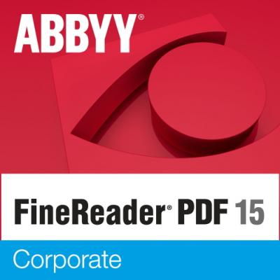 ABBYY FineReader PDF 15 Corporate Single User License (ESD) GOV/NPO Perpetual