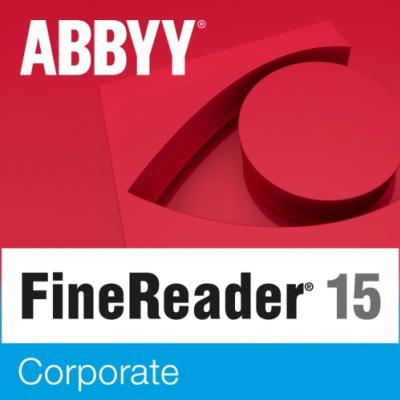 ABBYY FineReader 15 Corporate Single User License (ESD) 12 mesiacov 20 licencií